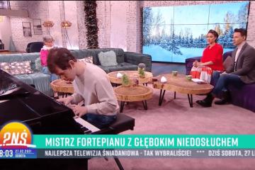 Grzegorz Płonka wstudio TVP1